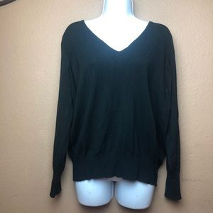 Lane Bryant Black V Neck Long Sleeve Sz 18/20